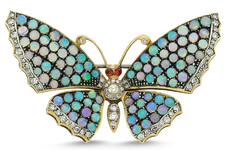 ZDNY opal butterfly brooch | JCK On Your Market
