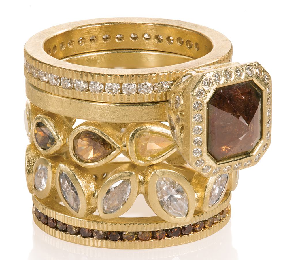 Todd Reed diamond ring stack