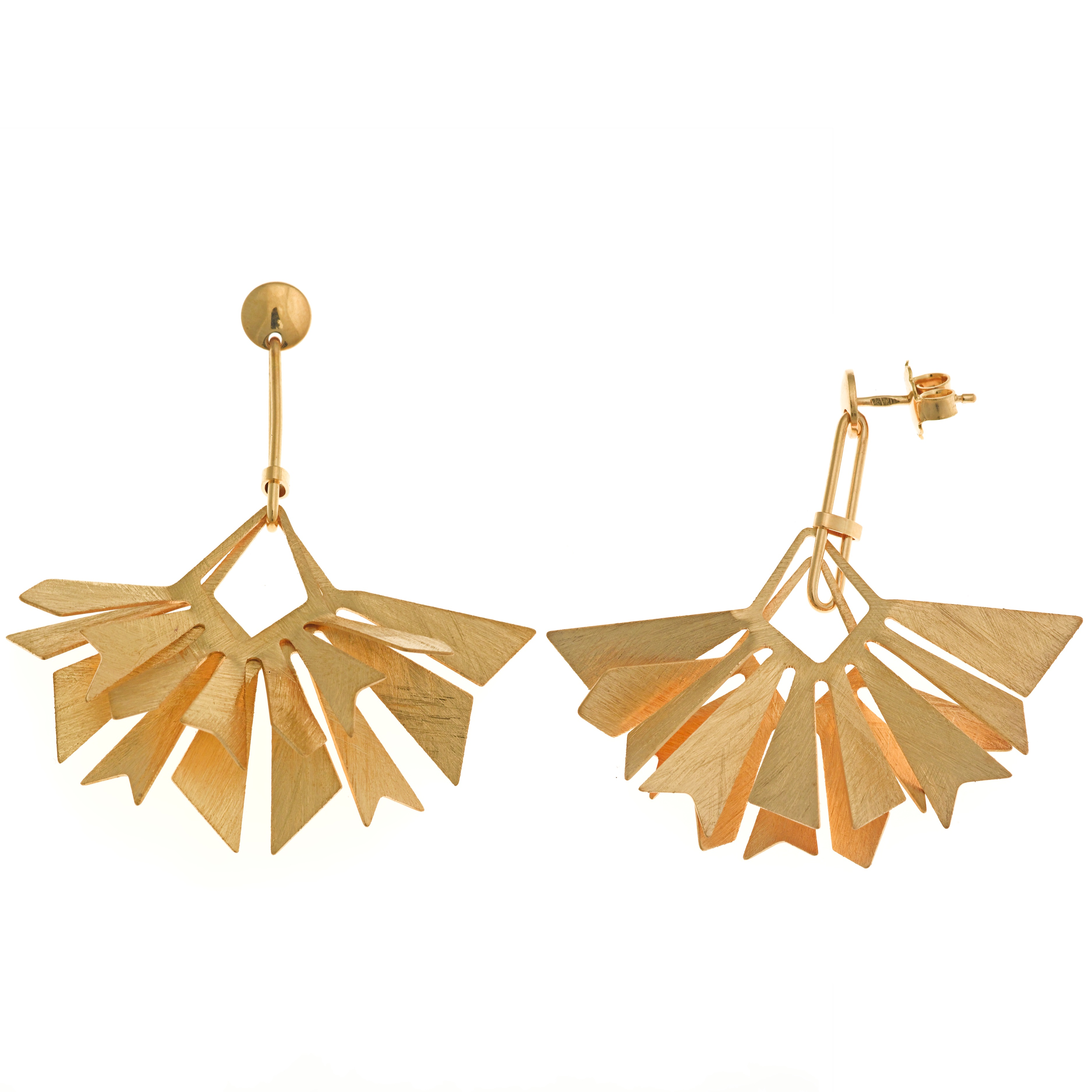 Salvatore Plata gold-pated earrings