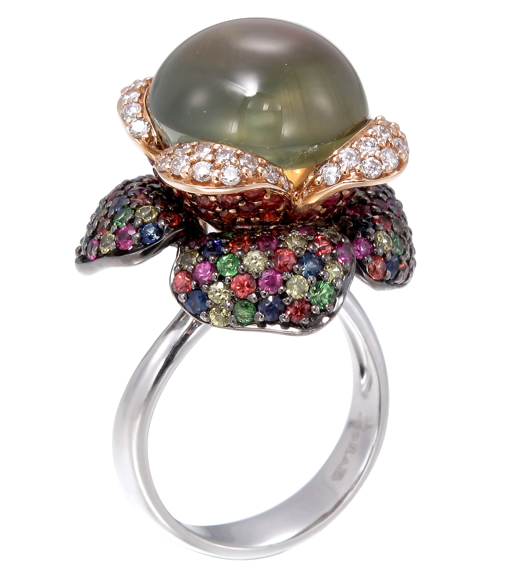 Zorab Atelier prehnite flower ring | JCK On Your Market