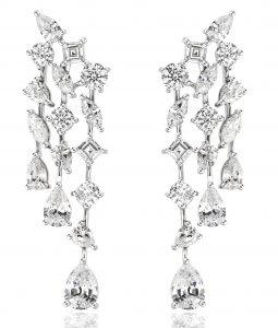 Earrings in sterling silver and CZ from Mierii Starlight collection