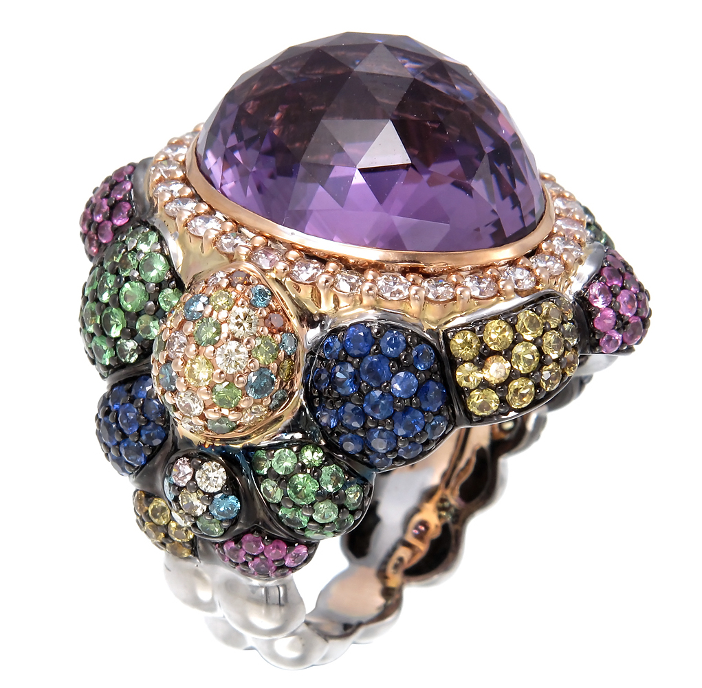 Zorab Creation amethyst cocktail ring | JCK On Your Market