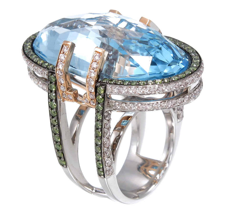 Zorab Atelier blue topaz ring | JCK On Your Market