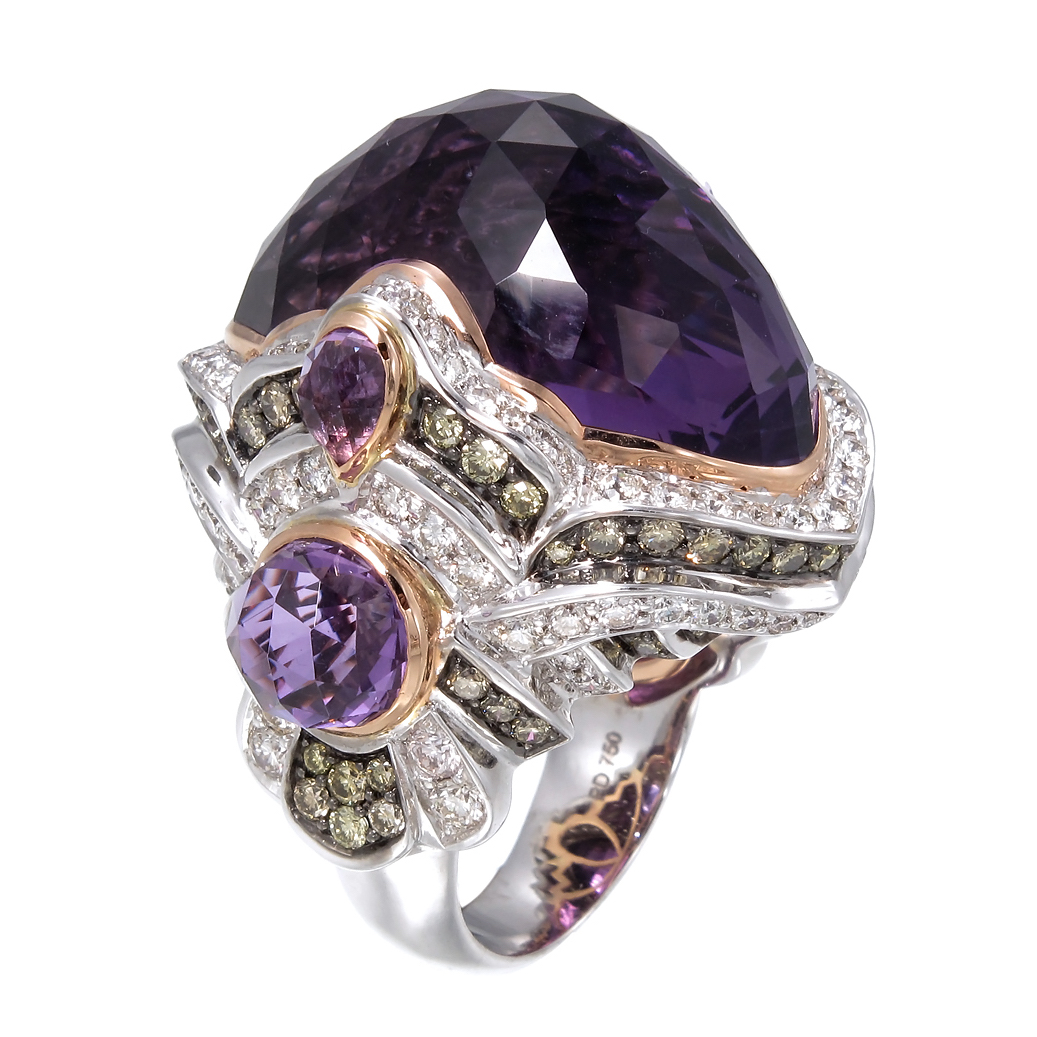 Zorab Atelier amethyst cocktail ring | JCK On Your Market