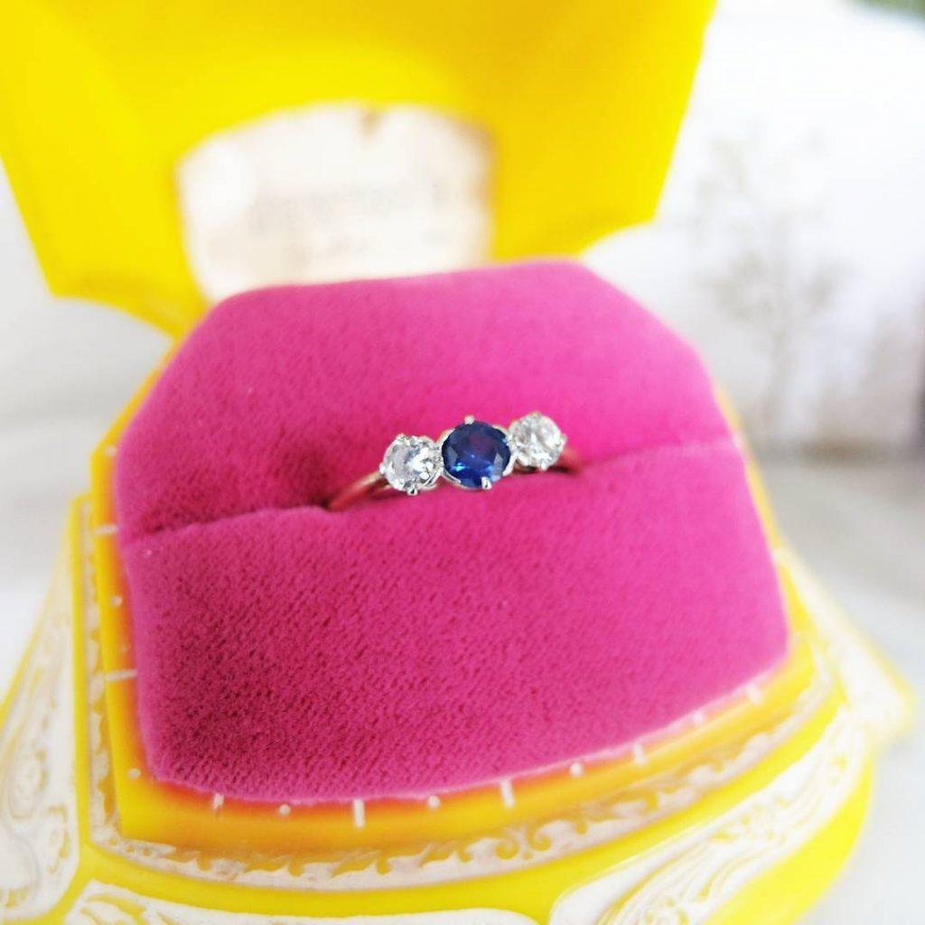 Instagram mayvedavintagejewellery sapphire engagement ring