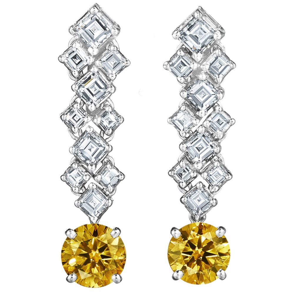 Oscar Heyman earrings in platinum