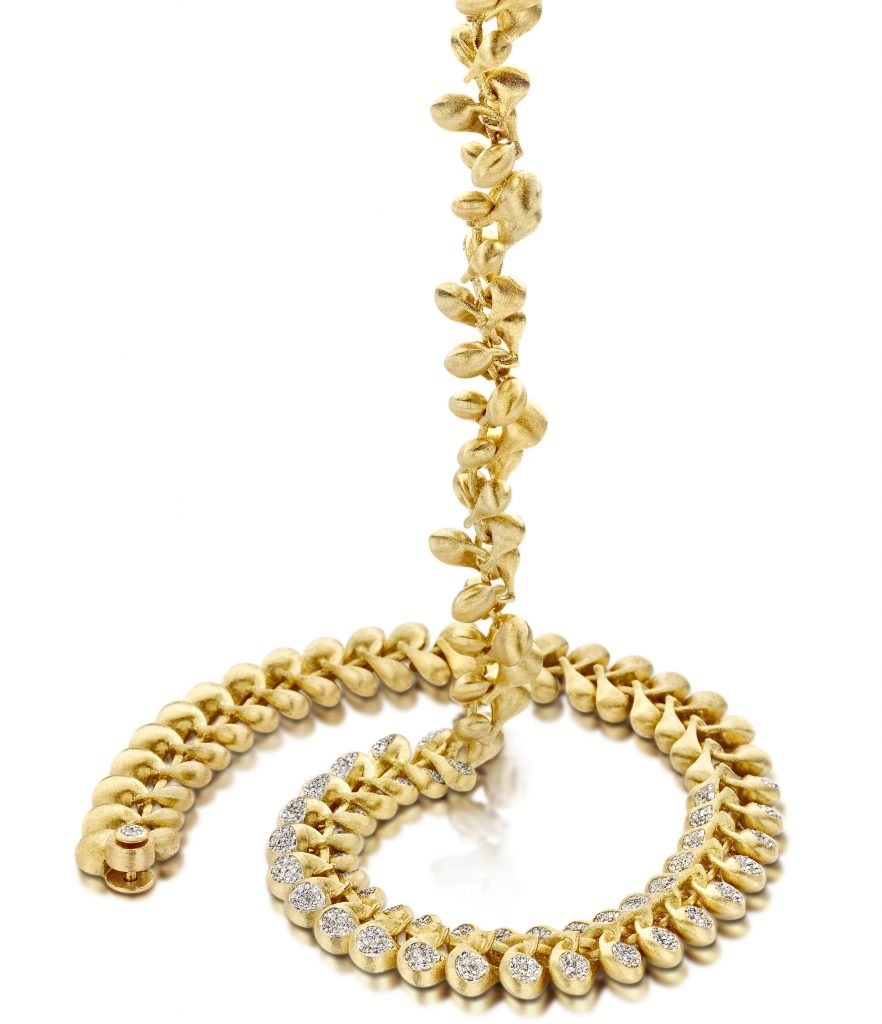 Trasformista necklace in 18k yellow gold with diamonds