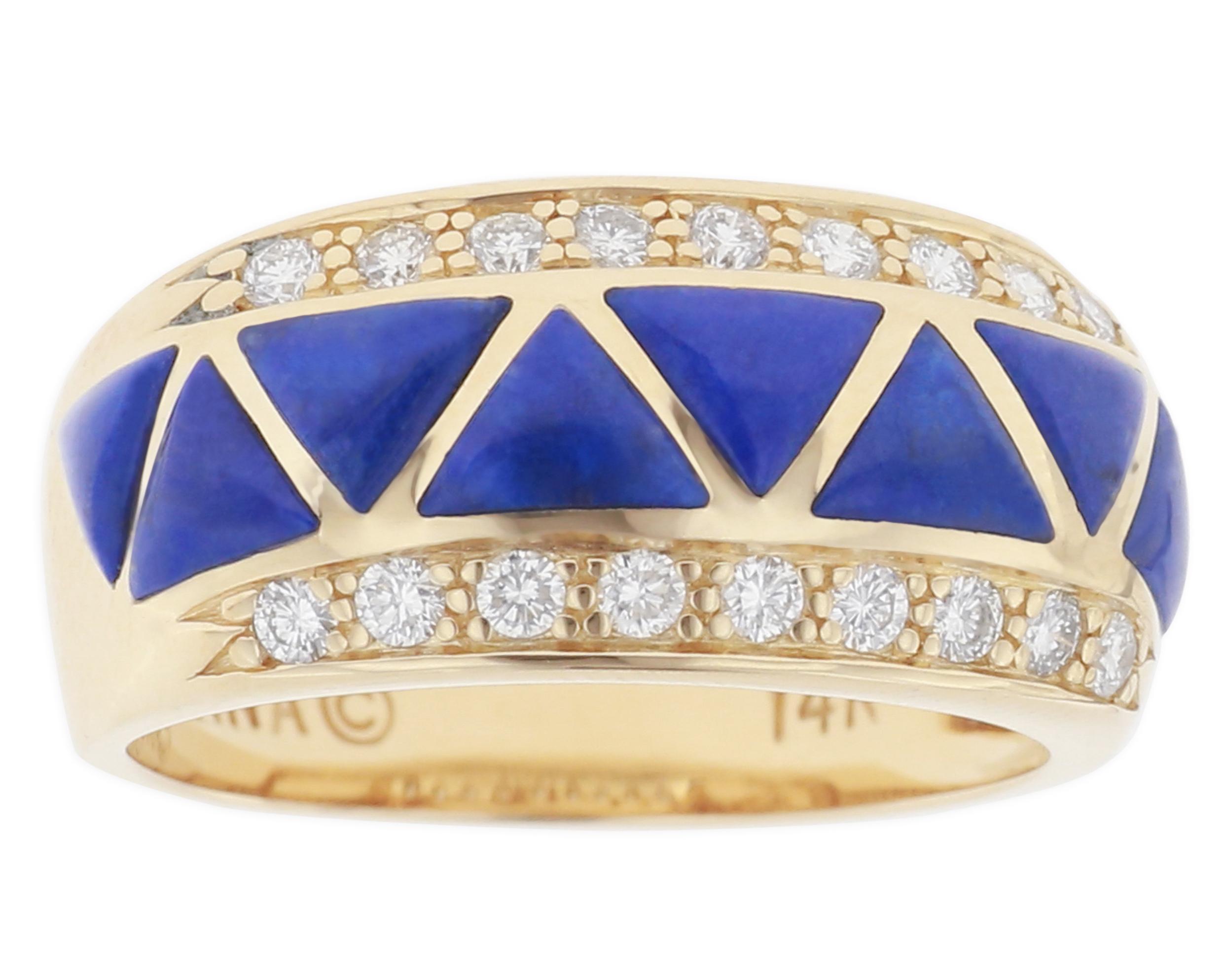 Kabana lapis lazuli inlay band