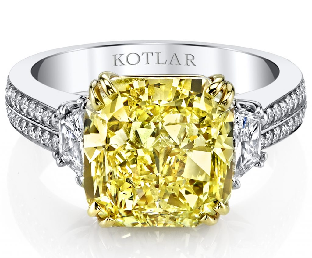 Katlar yellow diamond ring