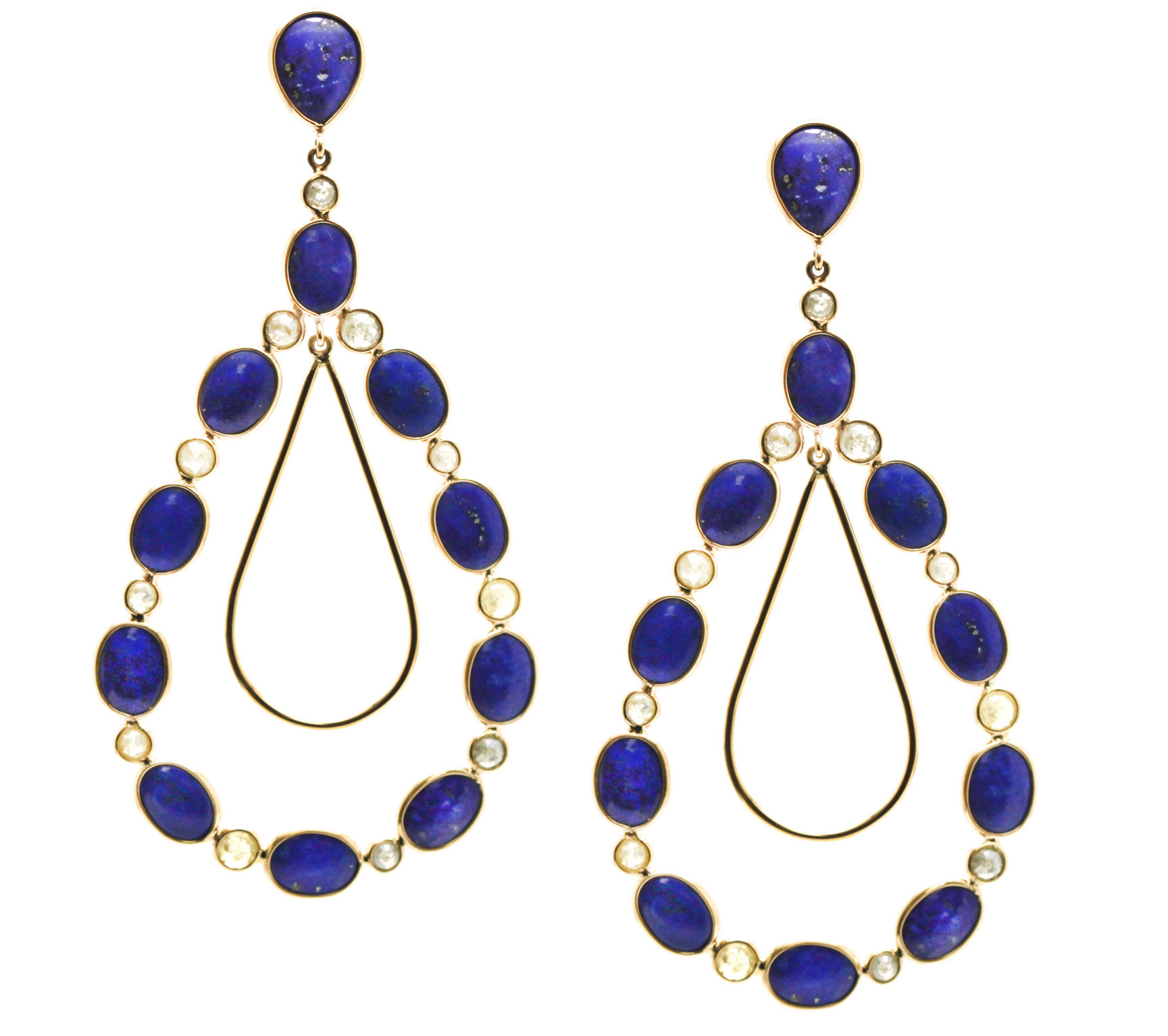 Tresor lapis lazuli earrings