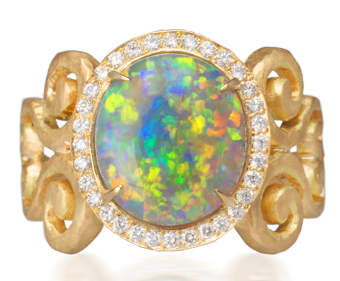 Pamela Froman Double Arabesque opal ring | JCK On Your Market