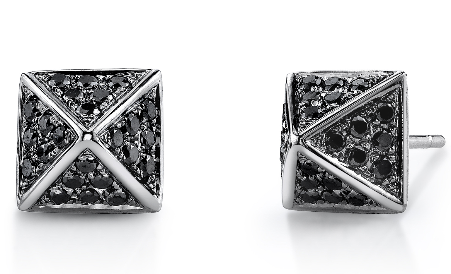 Borgioni black diamond stud earrings | JCK On Your Market
