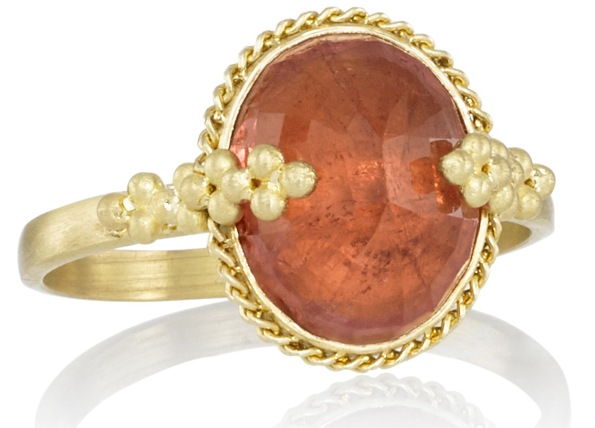 Amali Jewelry pink tourmalne ring