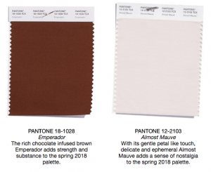 Pantone colors emperador and almost mauve