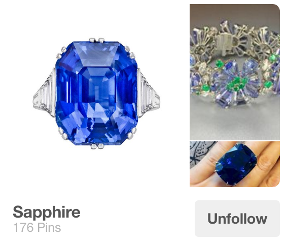 Sapphire Pinterest board