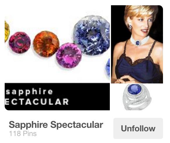 Sapphire Spectacular Pinterest board
