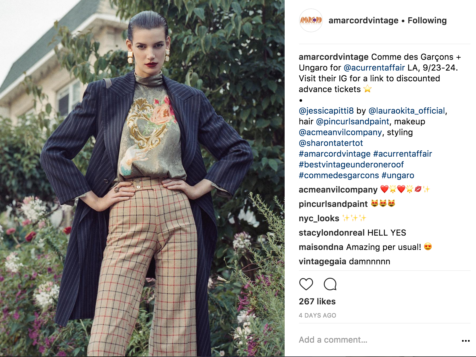 Amarcord Vintage instagram
