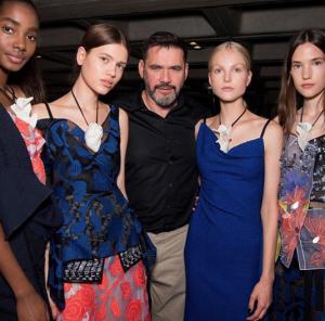 Roland Mouret and models