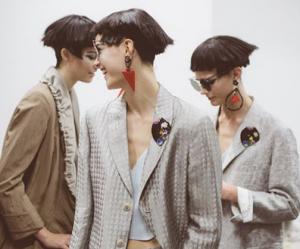 Earrings on models