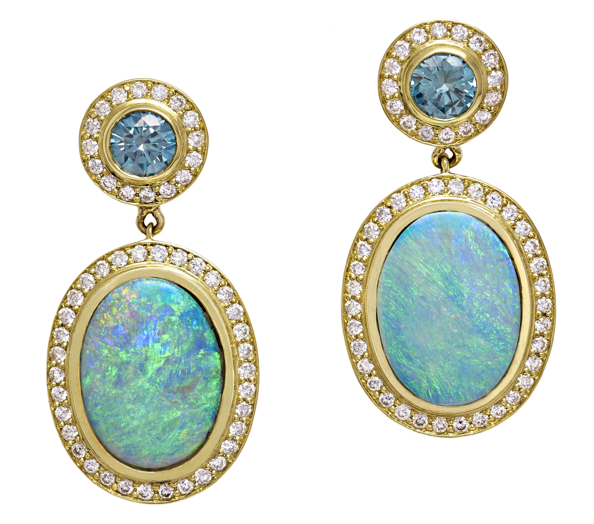 Terry Snider aqua and opal drop earrings | JCK On Your Market