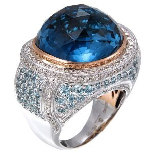 Zorab Atelier blue topaz cocktial ring