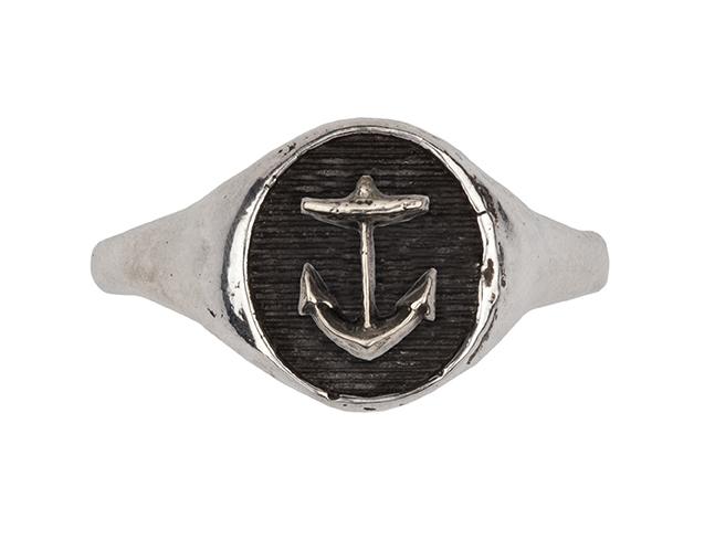 Pyrrha anchor signet ring
