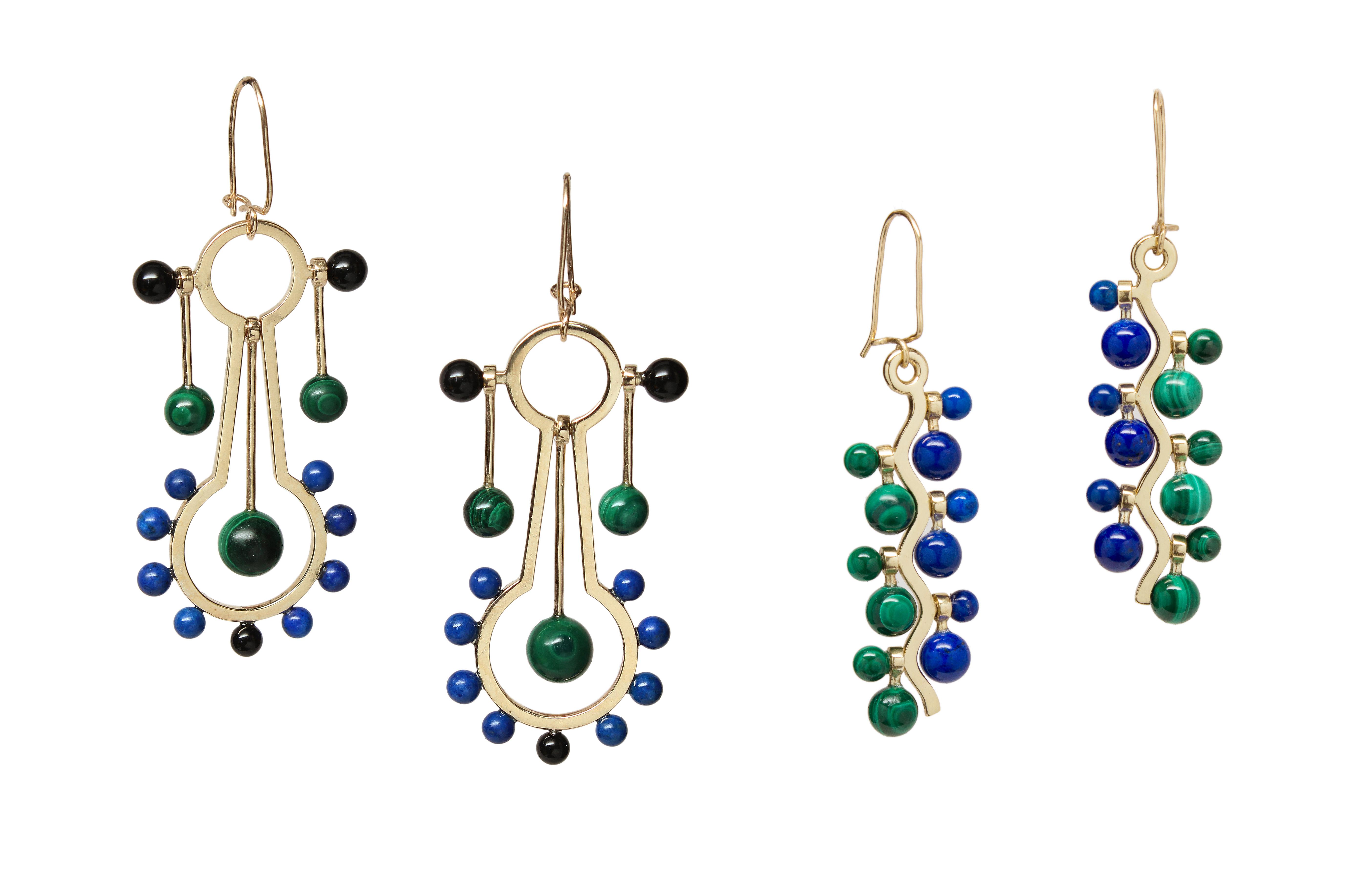 Pendulum Earrings and Cosine Drop Earrings