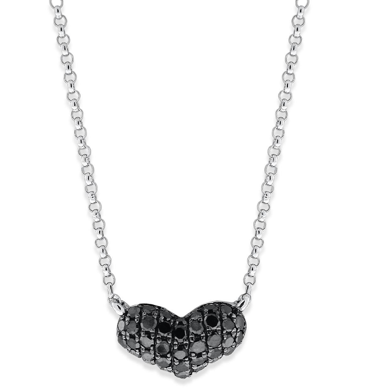 KC Designs black diamond heart pendant