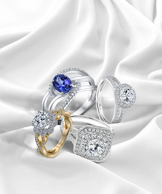 Clockwise From Bottom Left Two Tone Ring In 14k Gold With Diamonds Starting At 2 295 Mars Jewelry 888 592 6277 Marsjewelry Com White