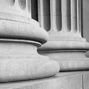Columns outside a court building