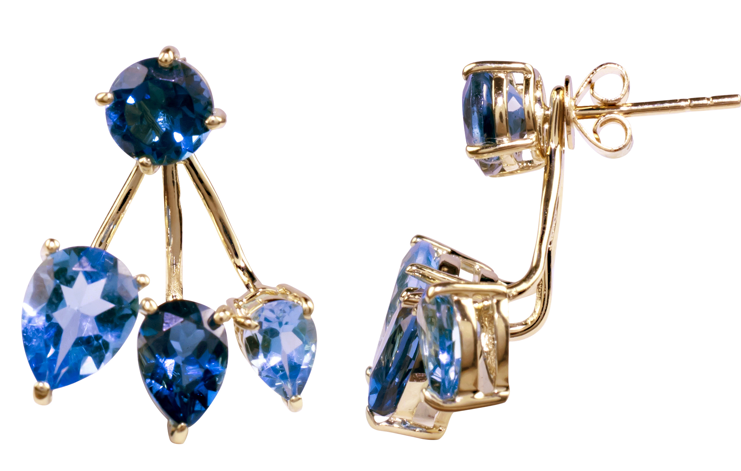 JewelMak blue topaz earrings | JCK On Your Market