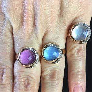 18k pink gold rings K di Kuore