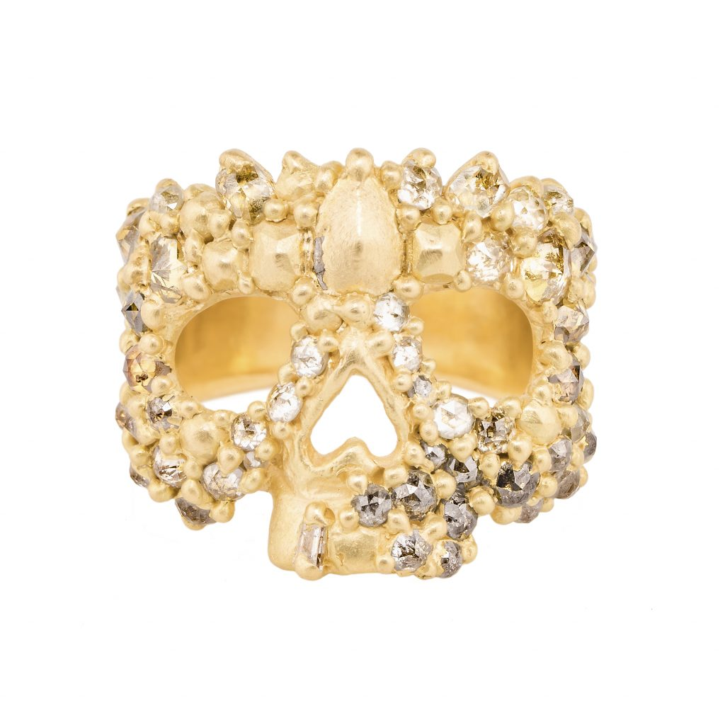 Heloise Skull Face ring
