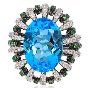 Andreoli blue topaz ring