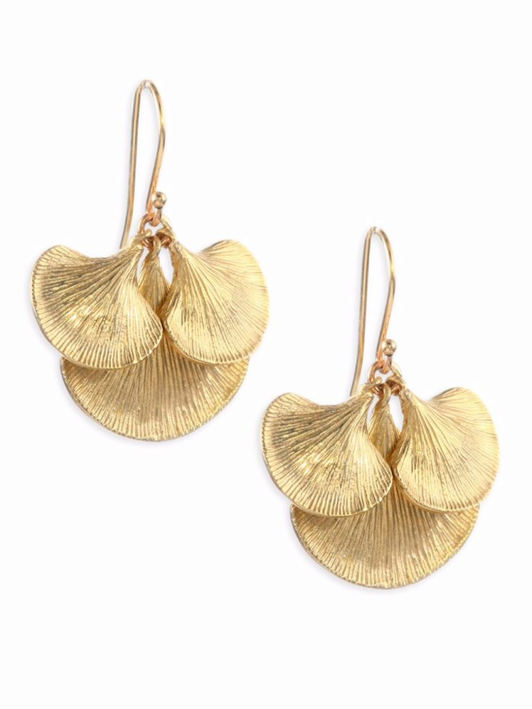 Small Ginkgo Cluster Earrings