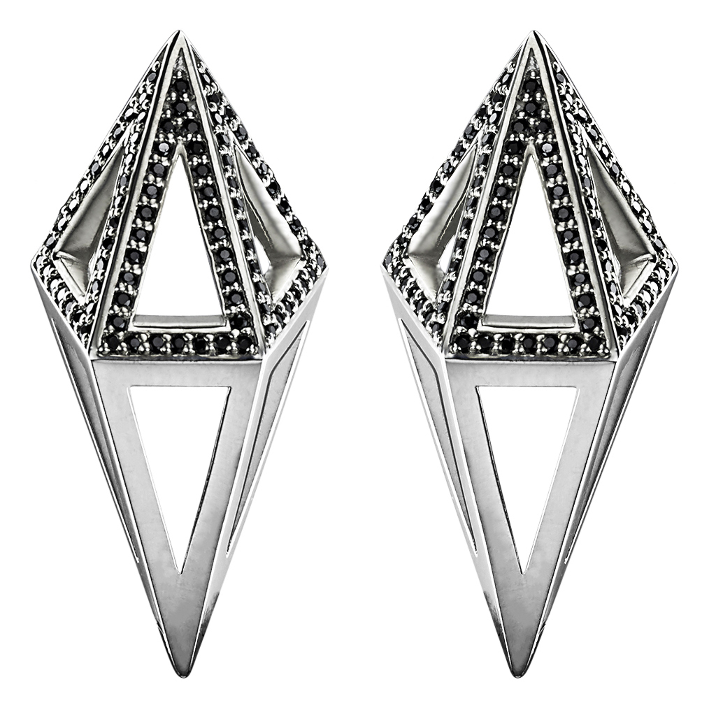 Moratorium Cocoon black diamond earrings | JCK On Your Market