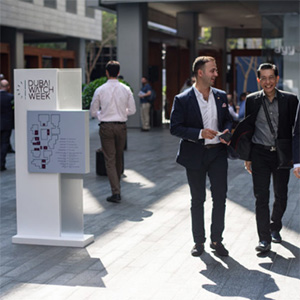 Two visitors to Dubai Watch Week 2016
