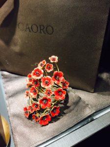 Floral gold bracelet by Il Caoro