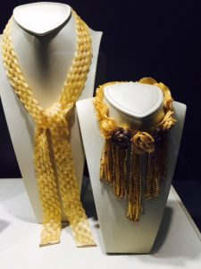 Gold woven necklaces by Gruppo Eclat