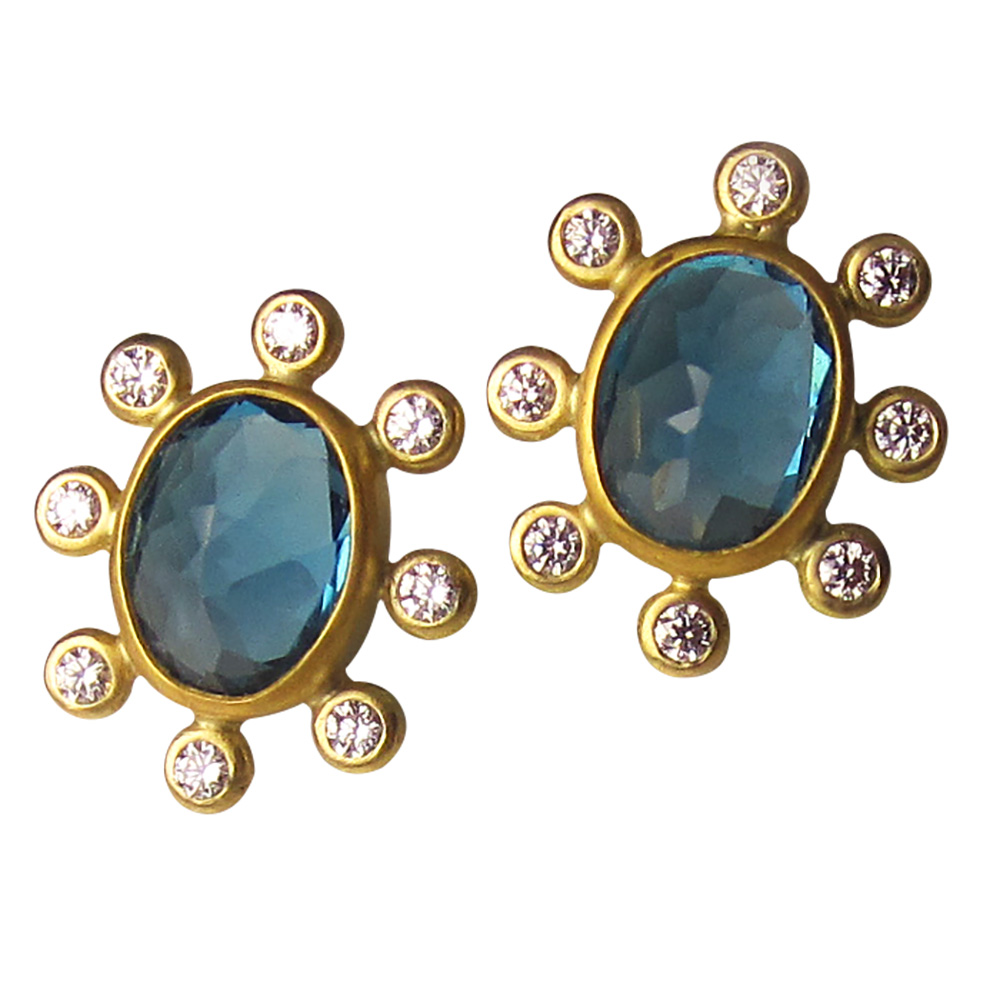 Terry Snider London blue topaz earrings | JCK On Your Market