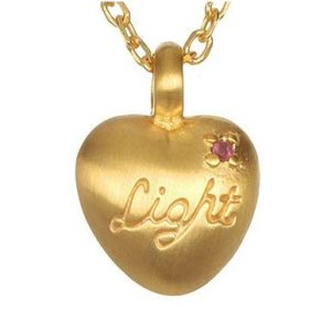 Infinite Love and Light Heart necklace