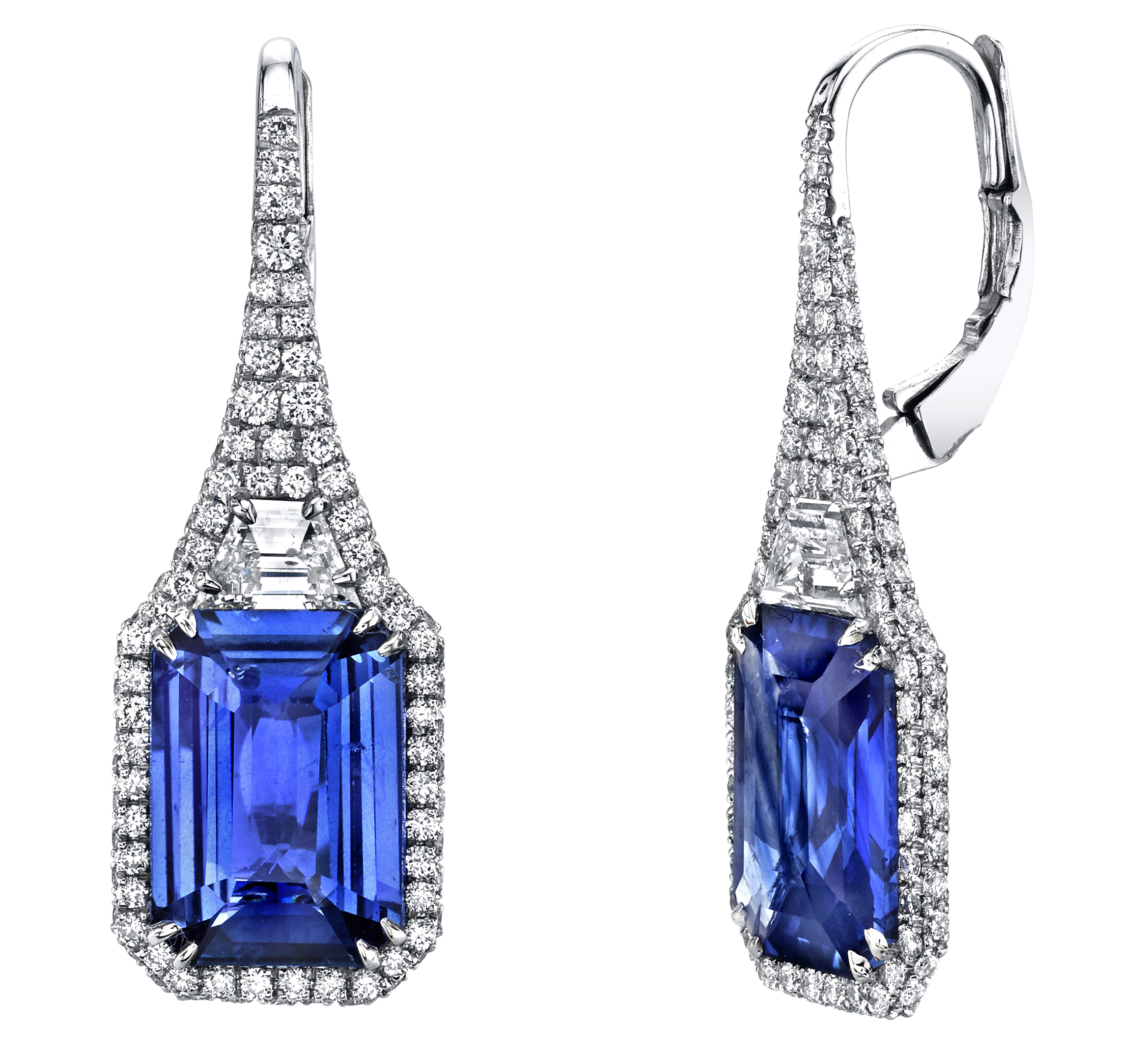 Joshua J sapphire drop earrings | JCK On Your Market