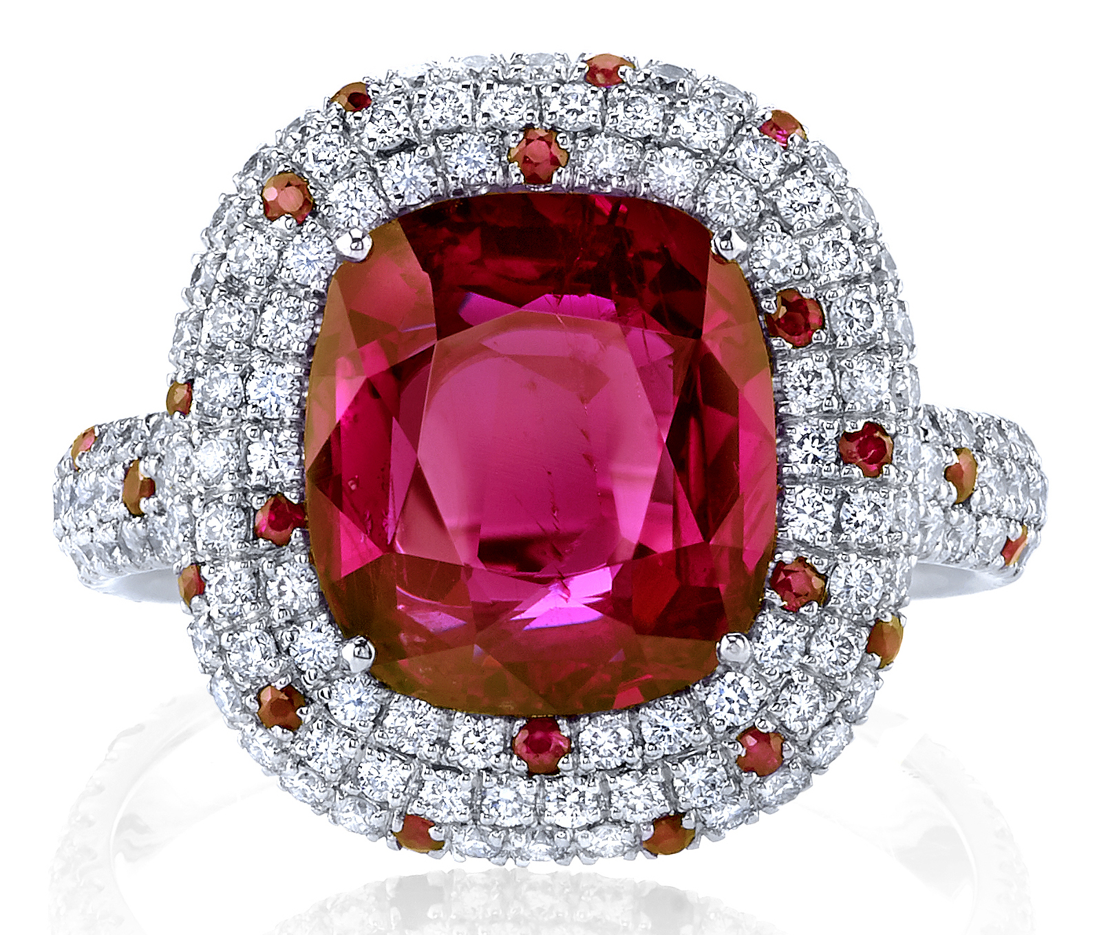 Joshua J cushion cut ruby ring | JCK On Your Market