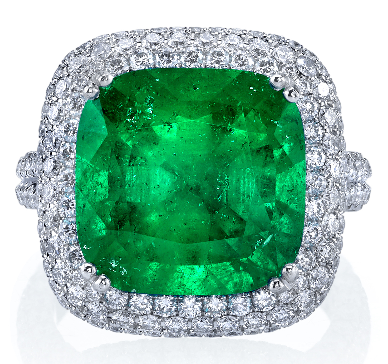 Joshua J platinum emerald ring | JCK On Your Market