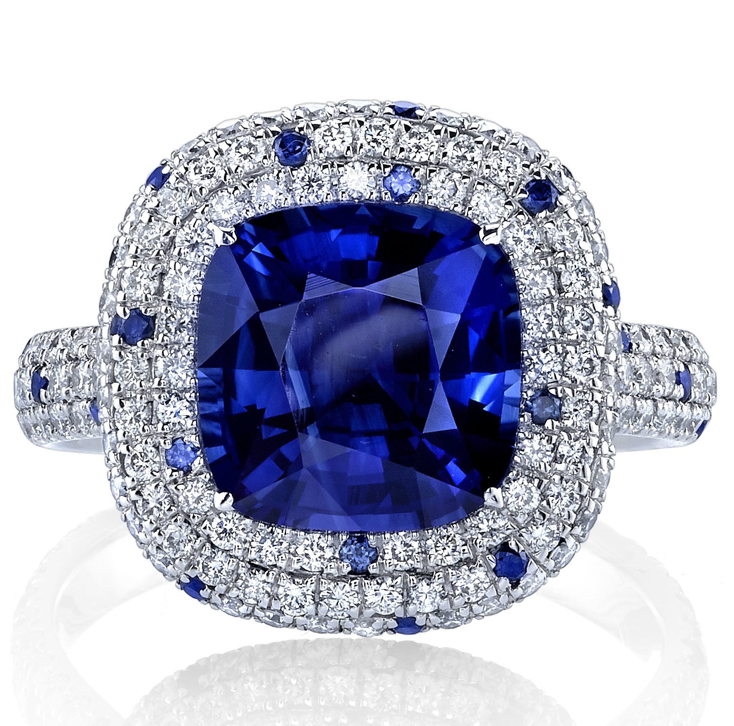 Joshua J cushion sapphire ring | JCK On Your Market