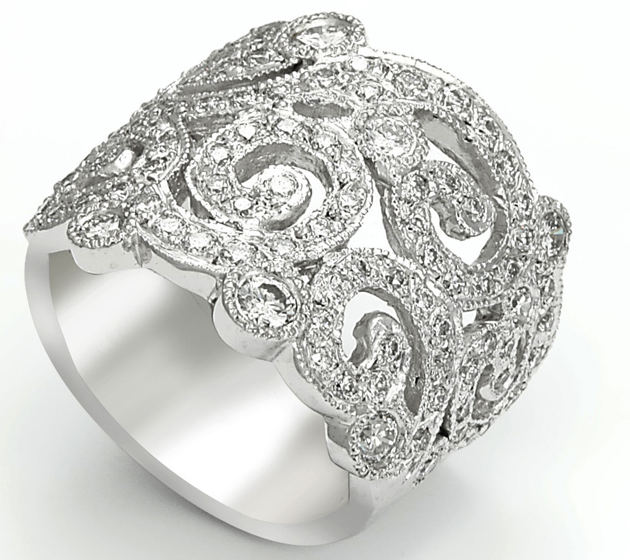 KR Jewelry Victorian-inspired band | JCK On Your Market