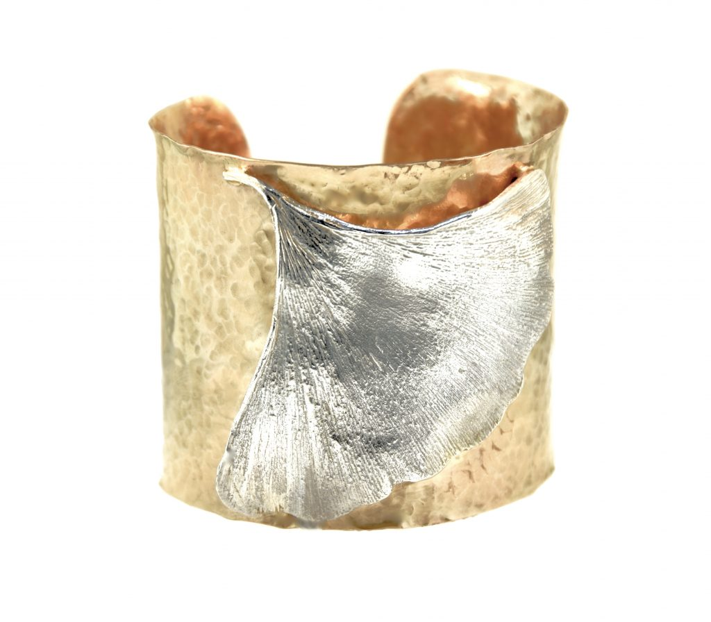 Hammered gold filled cuff