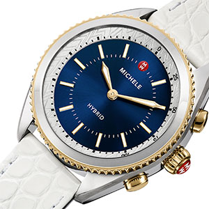 The Michele Smartwatch with navy face