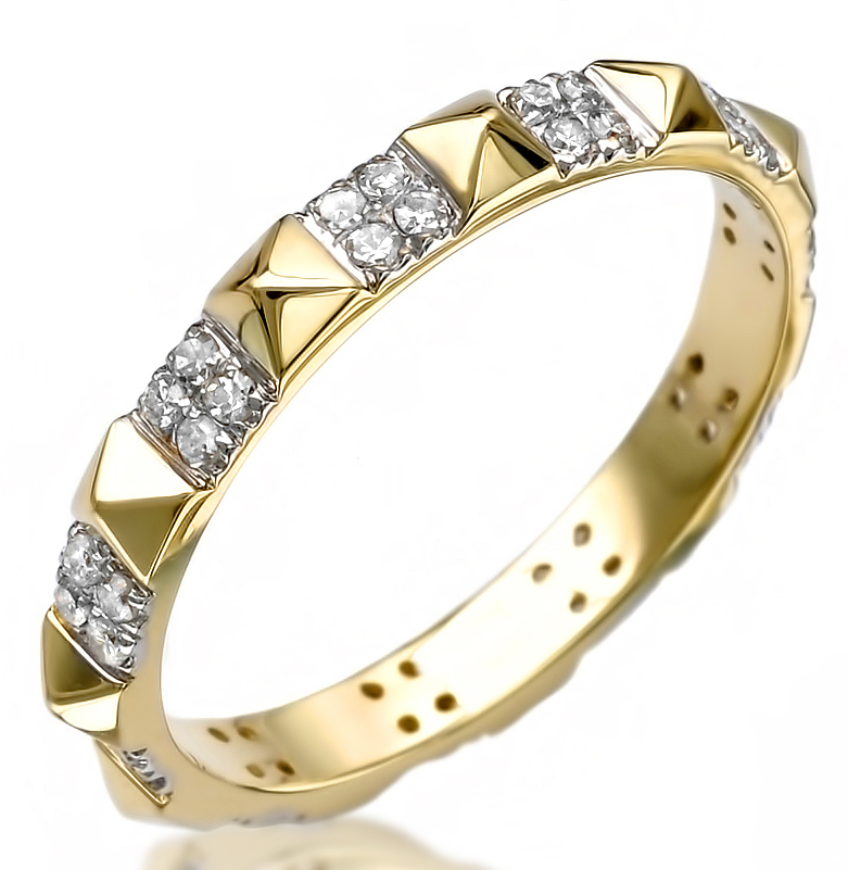 Liven Co. pyramid eternity band | JCK On Your Market