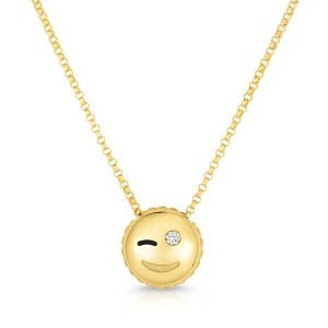 Roberto Coin Tiny Treasures Emoji necklace